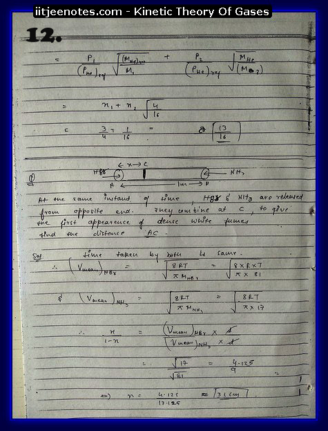 Kinetic Theory Of Gases12