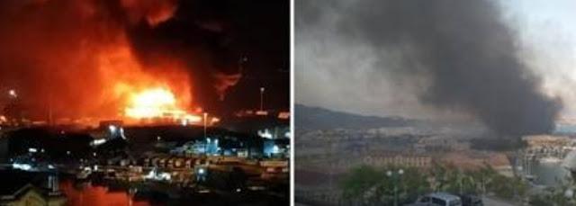انفجار هائل يهز ميناء انكونا بإيطاليا..اغلاق المدارس وعمدة المدينة يطالب السكان بعدم الخروج+ فيديو