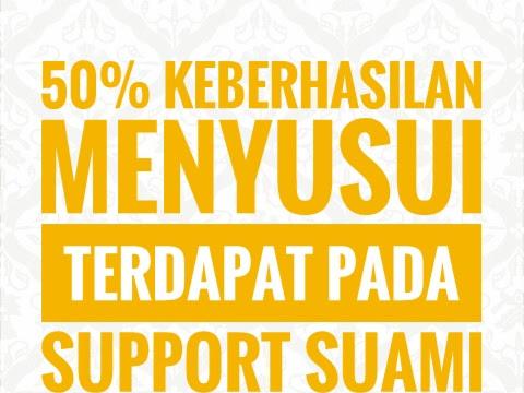 50% keberhasilan menyusui terdapat pada support suami