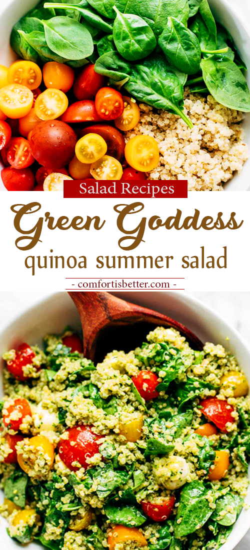 Delicious Green Goddess Quinoa Summer Salad Recipe