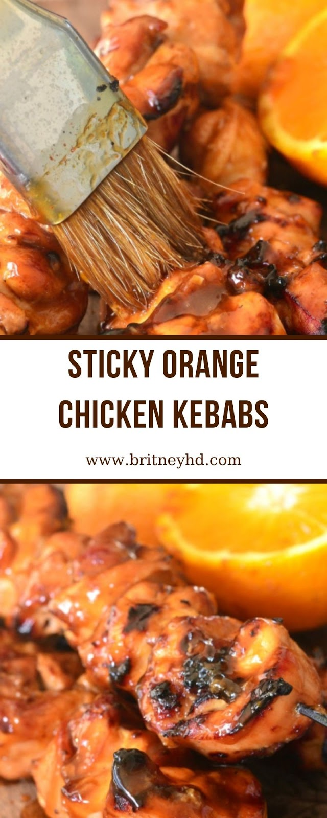 STICKY ORANGE CHICKEN KEBABS