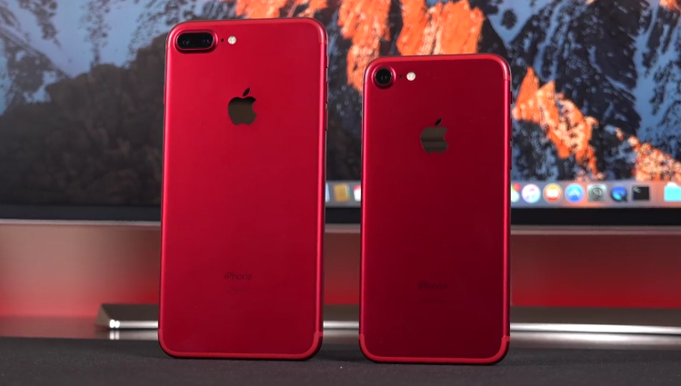 Red iPhone 7, Red iPhone 7 Plus