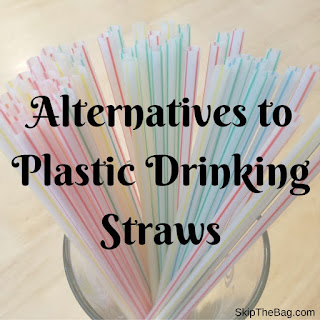 plastic straws in a cup link to zero waste and plastic free options