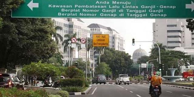 Sanksi Tilang Ganjil Genap Resmi Berlaku di Jakarta