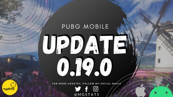 PUBG Mobile Update 0.19.0