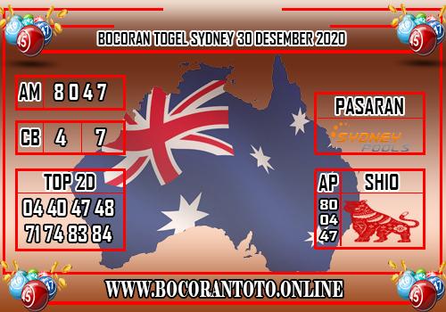 Bocoran Sydney 30 Desember 2020