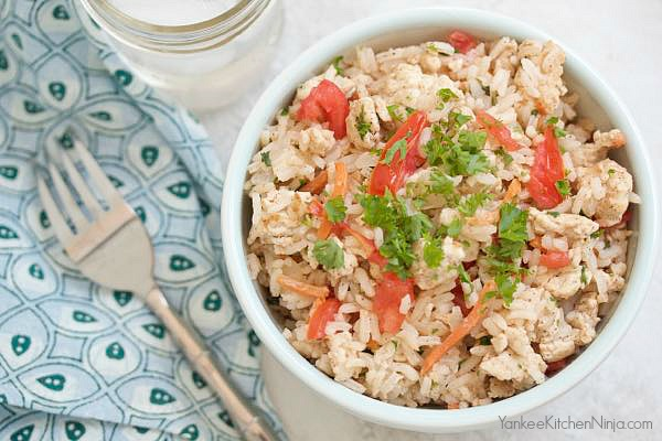 Healthy and easy one pot turkey pilaf