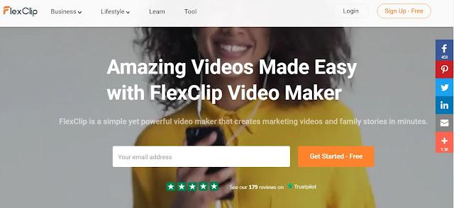 FlexClip free online editor
