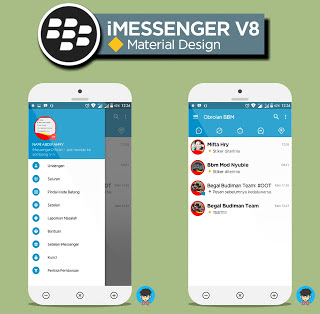BBM iMessenger V8 Material Design New Style (BBM MOD Base 3.1.0.13) Update Terbaru 2016