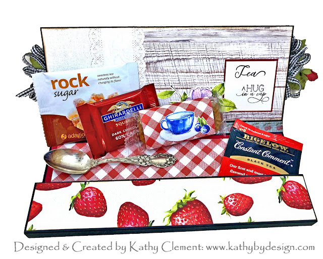 Cheery Cherries Slimline Card by Kathy Clement Photo 01
