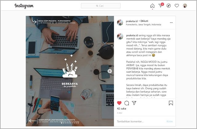 praketa kopi instagram