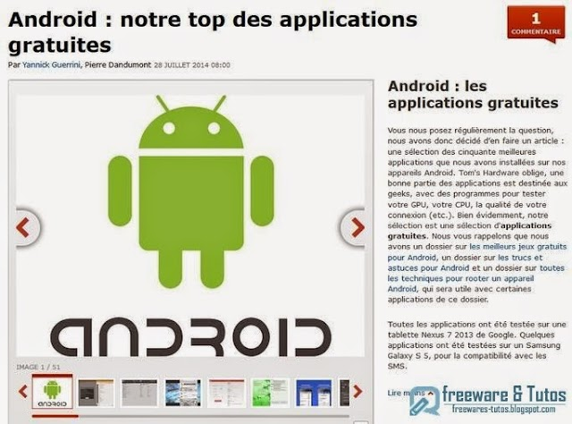 Android : le top des applications gratuites
