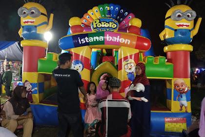 Meriahnya Pasar Malam di Lapangan Sidomulyo Lampung Selatan