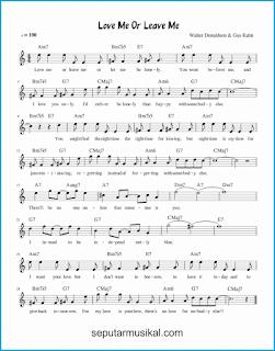 chord love me or leave me lagu jazz standar
