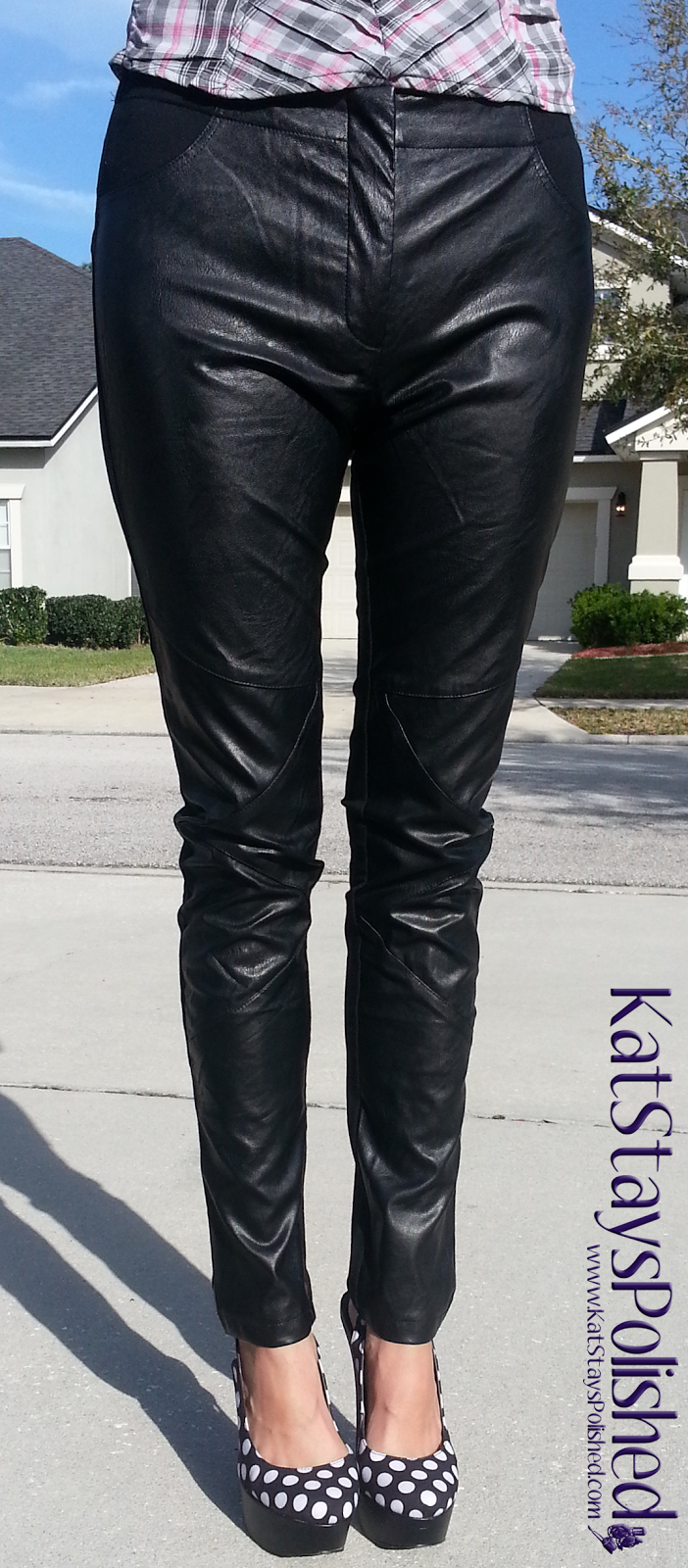 Madonna & Co - Vegan Leather Ponte Leggings | Kat Stays Polished