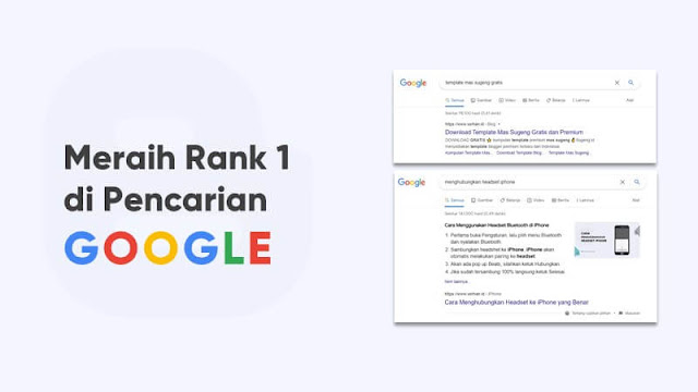 cara ranking 1 google