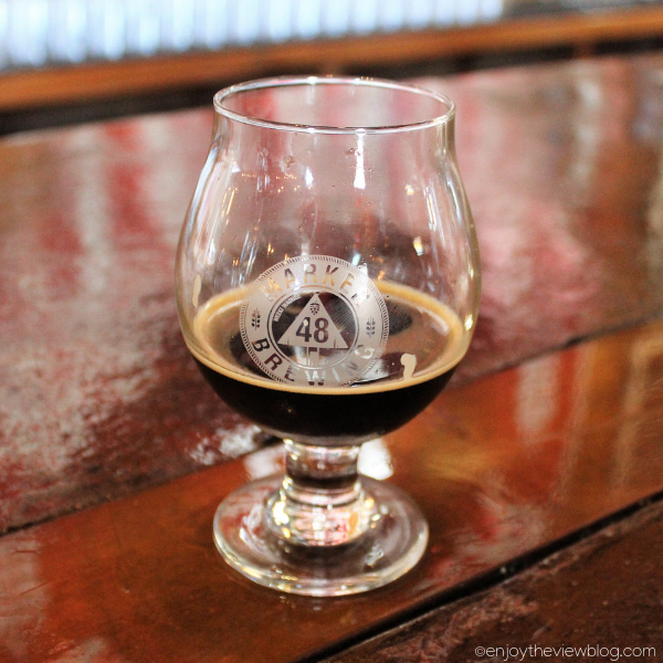 stout beer in a snifter