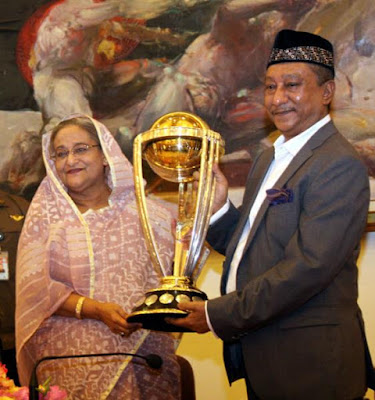 ICC World Cup Trophy In Bangladesh