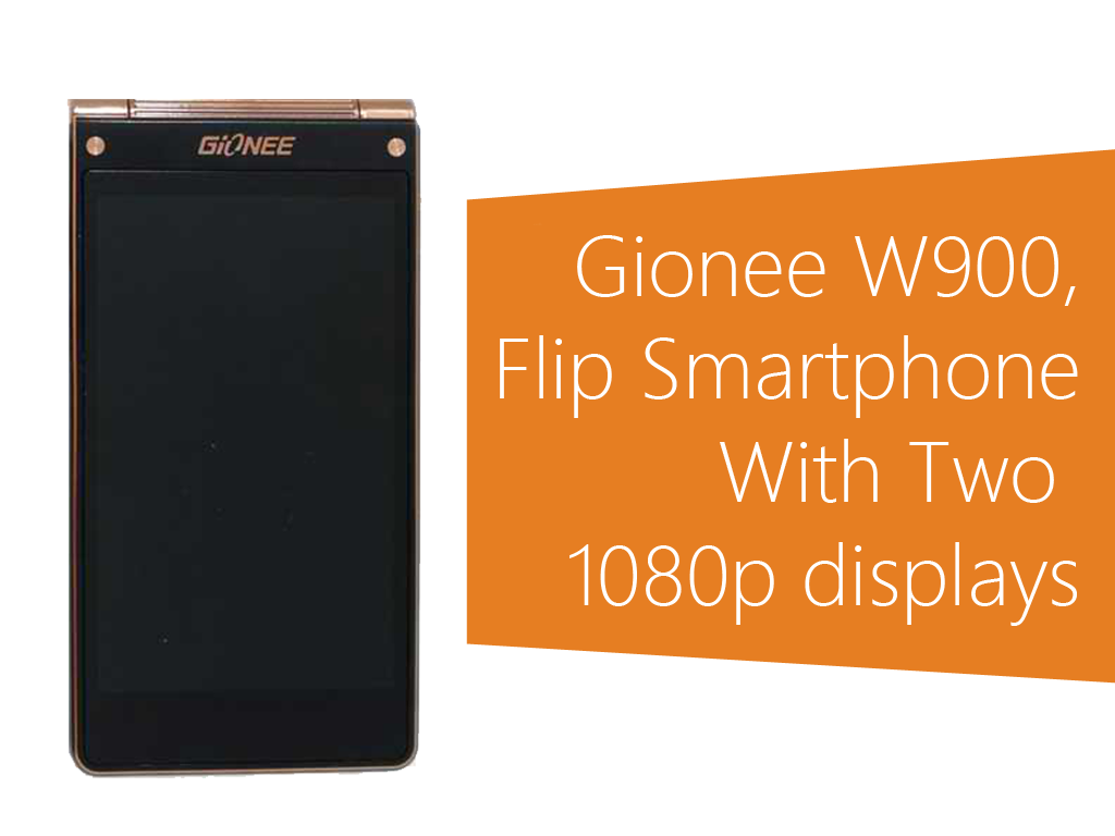 Gionee W900: A Flip Smartphone Sporting Two 1080p Displays