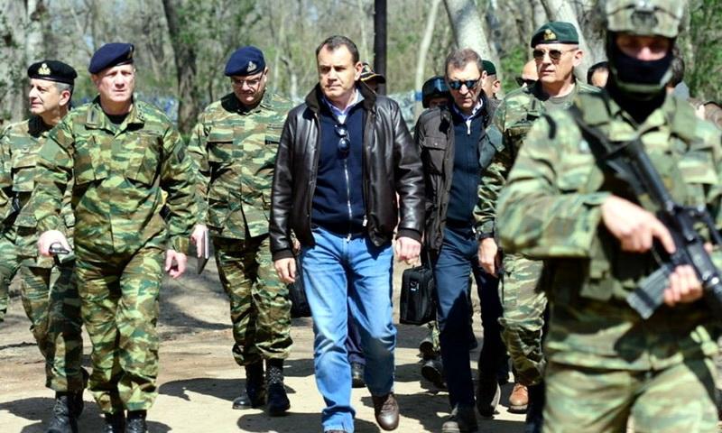 Επίσκεψη Παναγιωτόπουλου - Χρυσοχοΐδη στα σύνορα και στα φυλάκια του Έβρου