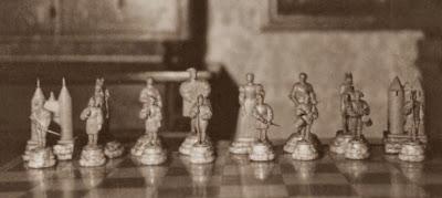 Primer juego de ajedrez, las huestes de Francisco I de Francia