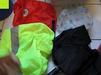 nicht wasserdicht: Regenschutz für Rucksäcke Rucksackschutz Ranzen Regenschutz Rucksackcover Regenüberzug Neon Sicherheitsüberzug Reflektorüberzug