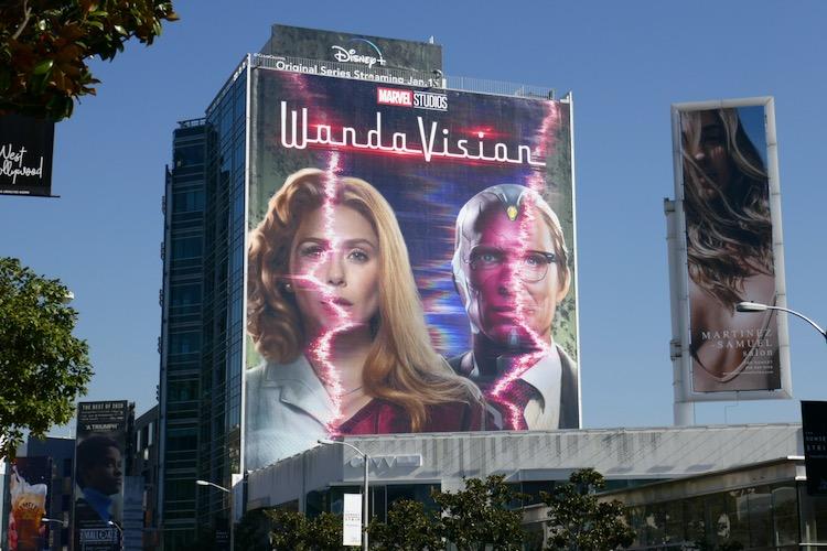 Giant WandaVision series billboard