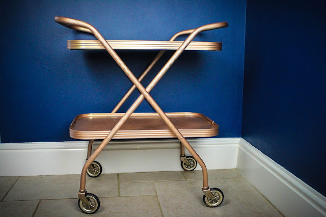 DIY Copper drinks trolley