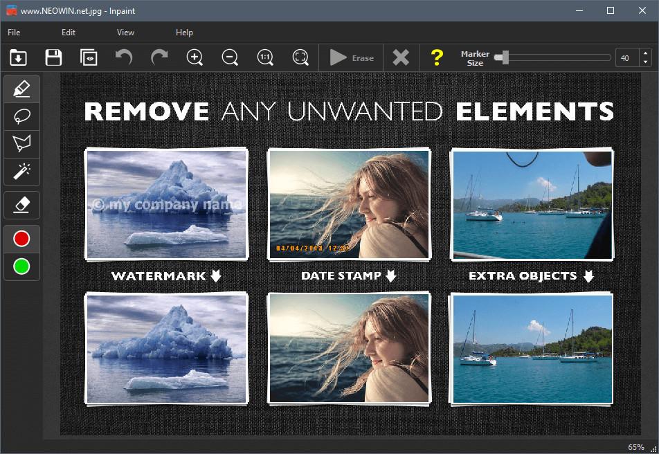 Download Inpaint 7.2 Full - Phần Mềm Xóa Chi Tiết Ảnh