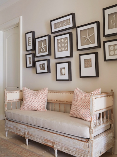 Gallery Wall Idea with Framed Starfish