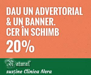 20% pe advertorial si banner