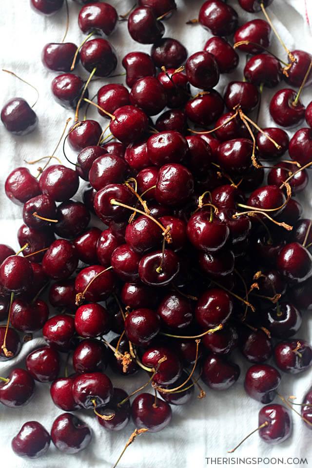 Fresh Cherries For Homemade Cherry Pie Filling