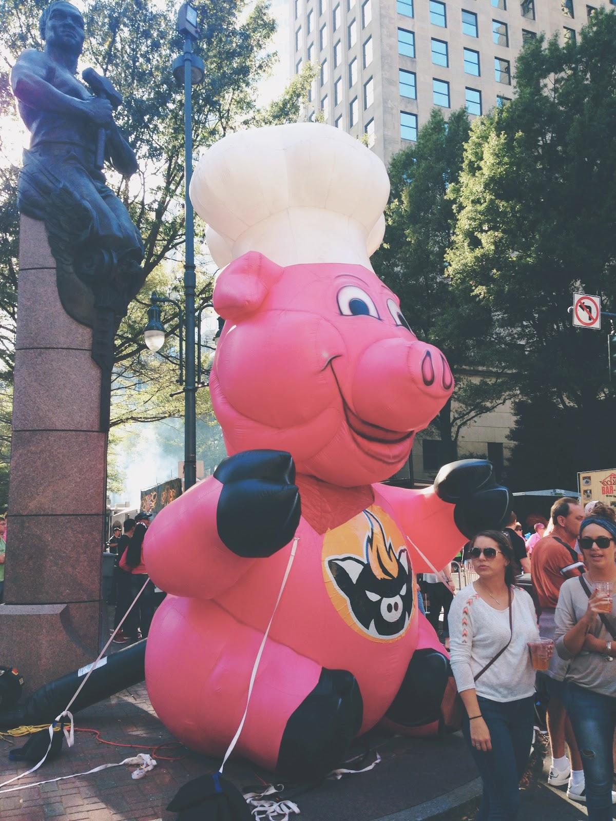 12th Annual Q-City Charlotte BBQ Championship Festival Piggy