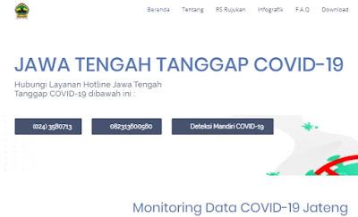 Website Resmi Info Corona Jawa Tengah: https://corona.jatengprov.go.id/