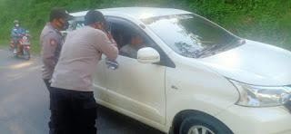 Terapkan Prokes Personel Polsek Cendana Polres Enrekang Melaksanakan Oprasi Yustisi