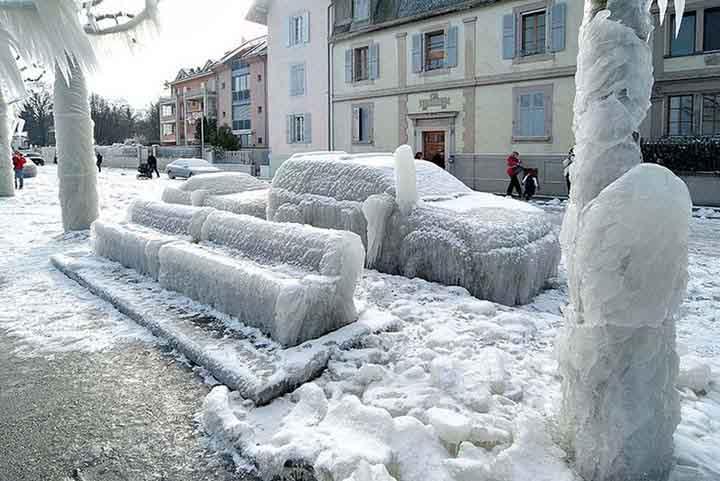 kışın buz tutan şehirlerin resimleri