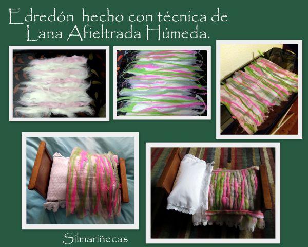 Técnica de lana afrieltrada húmeda para camita desembalaje