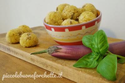 foto Ricetta crocchette di miglio e melanzane perline per bambini