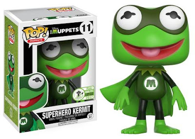 Emerald City Comicon 2017 Exclusive The Muppets Superhero Kermit Pop! Vinyl Figure by Funko