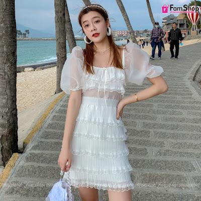 Váy maxi đi biển V415