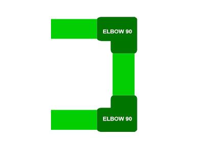 Pada dasarnya elbow 90 derajat berguna untuk membelokkan fluida cair