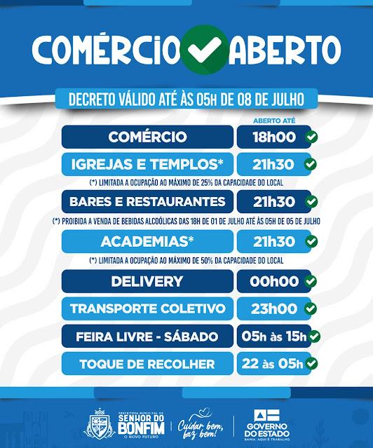 PREFEITURA DE BONFIM ATUALIZA MEDIDAS DE COMBATE A COVID-19