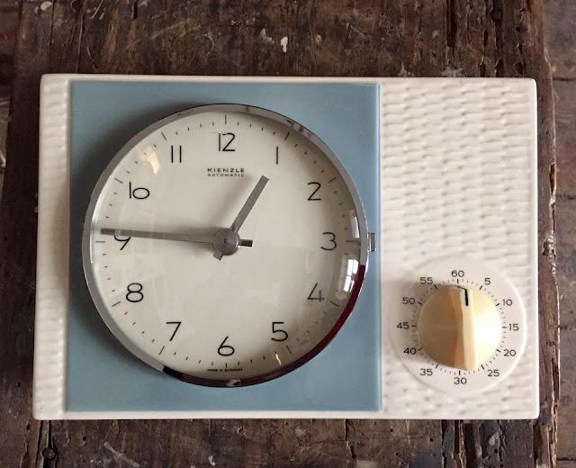 relógio, vintage, kienzle, anos 60/70, made in germany, cozinha