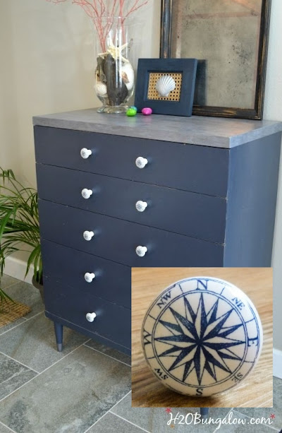 Dresser with Nautical Compass Knobs