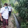 Tanah longsor di Subak Pegending, Banjar Besang Kawan Klungkung