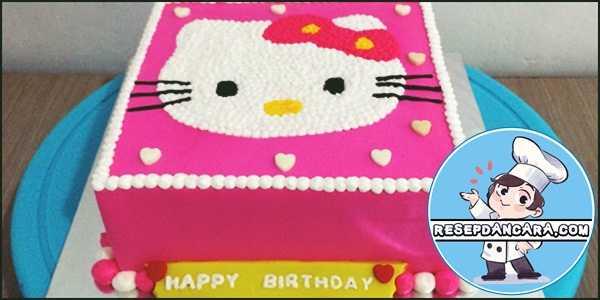 Cara Mudah Membuat Kue Ulang Tahun Hello Kitty Sederhana dan Lucu