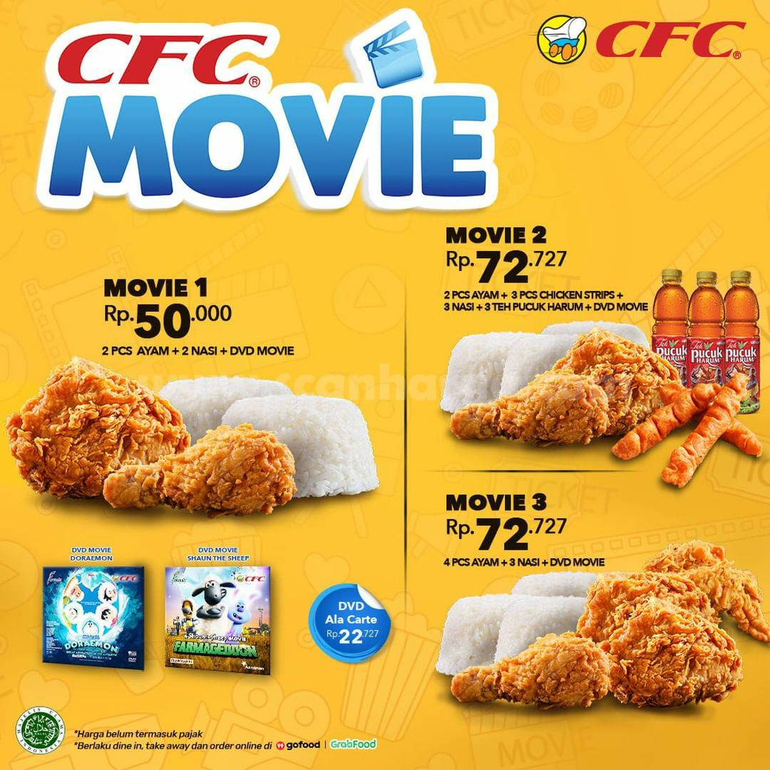 CFC Promo Paket MOVIE! GRATIS DVD harga mulai Rp 50.000
