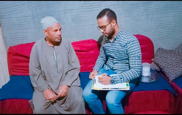 عبدالفتاح حمادة مع مراسل بوابة كفر الشيخ الإخبارية