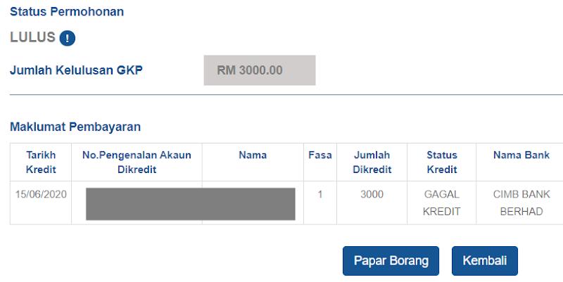 GKP Gagal Kredit? Inilah Cara Kemaskini Maklumat Pembayaran Bagi Status Gagal Kredit