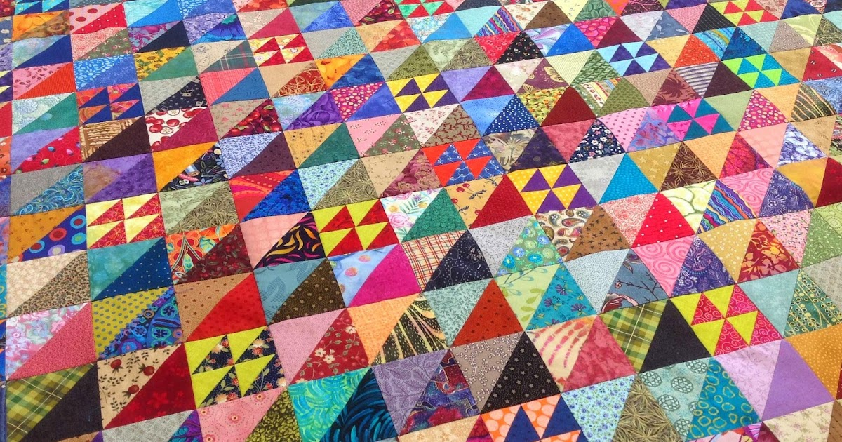 Fabadashery Half Square Triangle Hst Scrappy Quilt
